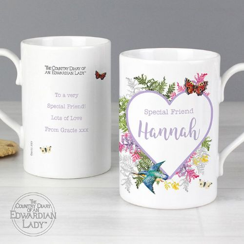 Personalised Country Diary Botanical Slim Mug
